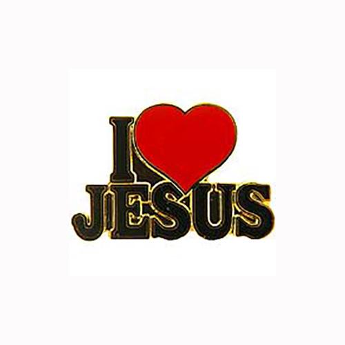 I LOVE HEART JESUS RELIGIOUS CUTOUT LAPEL PIN BADGE 1 INCH